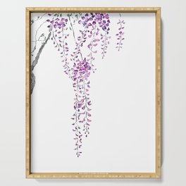 purple wisteria 2019 Serving Tray