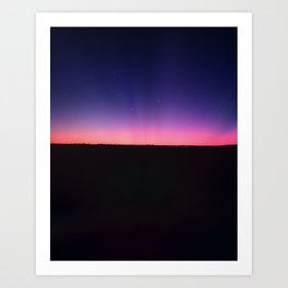 galaxy sunset Art Print
