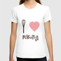 baking T-shirts featuring I Heart Baking by SweetToothStudio