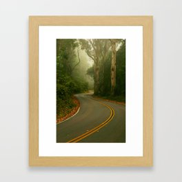 A bend in the Road Framed Art Print