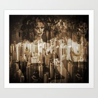 sex and the city Art Prints featuring Sex in the city by WDeluxe