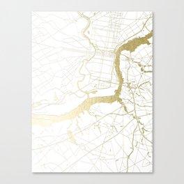 Philidelphia - White and Gold Canvas Print
