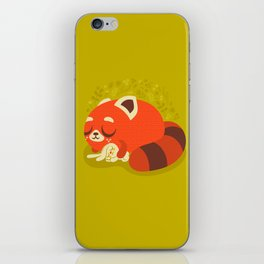 Sleeping Red Panda and Bunny / Cute Animals iPhone Skin