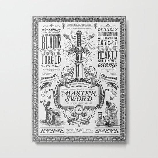 Legend of Zelda Vintage Master Sword Advertisement Metal Print