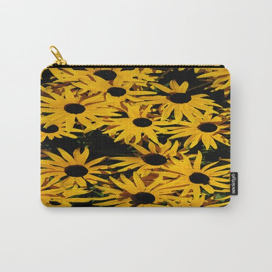 Sunshine Black Eyed Susan Flower Blossoms Carry-All Pouch