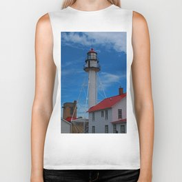 Whitefish Point Lighthouse III Biker Tank