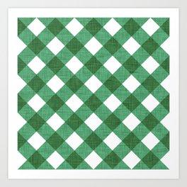 Canadian Plaid Green Art Print