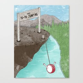 Yo-Yo Jumping! Canvas Print