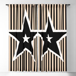 The Greatest Star! Black and Cream Blackout Curtain