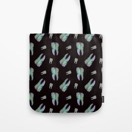 Loose Toothache - Hologram on Black Onyx Tote Bag