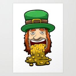 Leprechaun Vomits Coins - Irish Wealth Art Print
