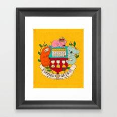 procrasti nation Framed Art Print