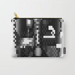 Darth-Vader-Pixel-Face Carry-All Pouch