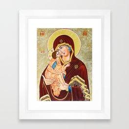 Mary, Mother of God Framed Art Print