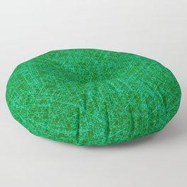 Scratched Green Floor Pillow