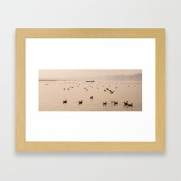 Ganges River Morning Scene Framed Art Print