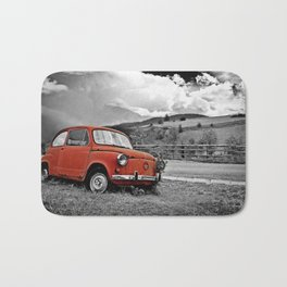 Old Car on the Countryside Bath Mat