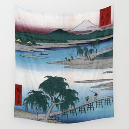 The Tama River by Hiroshige Wall Tapestry