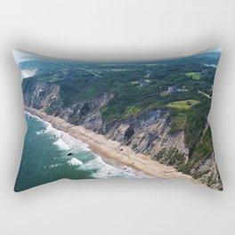 Beautiful Cliffs and Bluffs of Block Island, Rhode Island Rectangular Pillow