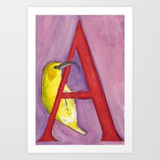 A for 'Akiapola'au Art Print