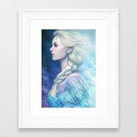 frozen Framed Art Prints featuring Frozen by Artgerm™