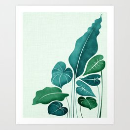 Cacophony in Teal Art Print