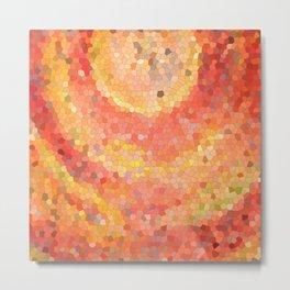 Portal. Red orange mosaic drawing Metal Print
