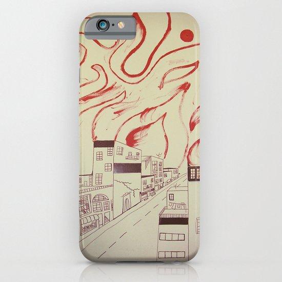 Burning city iPhone & iPod Case