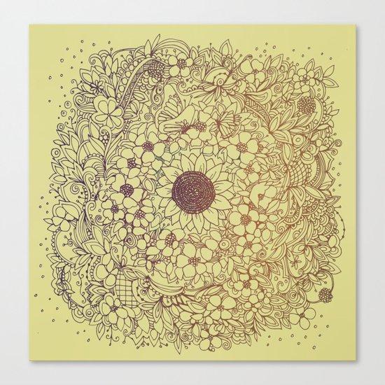 Flower circle Canvas Print