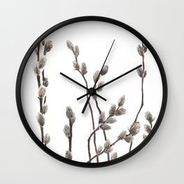 Pussywillow branches Wall Clock
