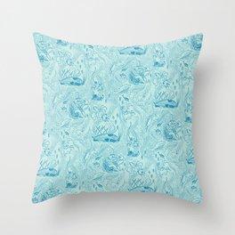 Le Grand Bleu Throw Pillow