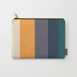 Mid Century Modern Minimalist Color Block Pattern Yellow Grey Green Carry-All Pouch