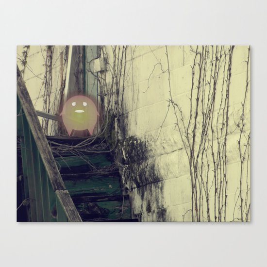 Lonely with Stairs Canvas Print