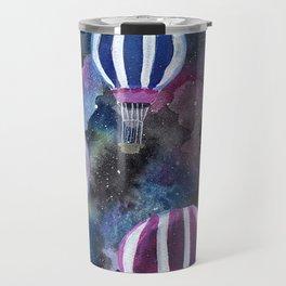 Hot Air Balloon in Galaxy Sky Travel Mug