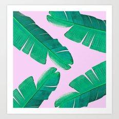 Banana Palm, muck and teal Art Print
