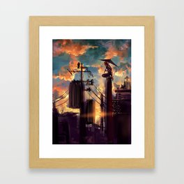 GINTAMA-lonely fighter Framed Art Print