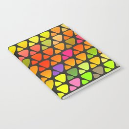 Bright colorful abstract triangles retro pattern Notebook