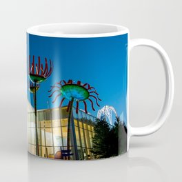 Seattle Glass Flowers Space Needle Coffee Mug