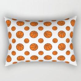 Basketball Pattern | Team Player Dunk Rebound Rectangular Pillow