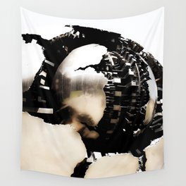 Vatican Sphere photography, Vatican Museum Italy, Abstract bronze sculpture Wall Tapestry