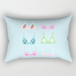 girl power bras Rectangular Pillow