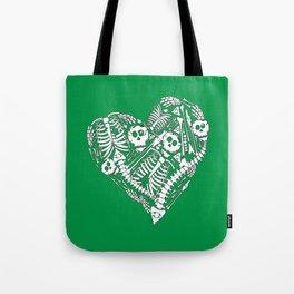 Skeletal Love (Green) Tote Bag