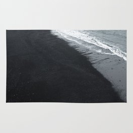 beach of vik in iceland Rug