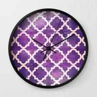 morocco Wall Clocks featuring Morocco by Raluca Ag