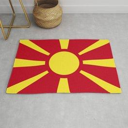 Macedonia flag emblem Rug