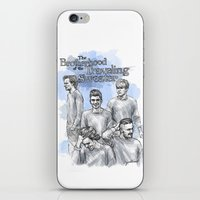 cyrilliart iPhone & iPod Skins featuring The Brotherhood of the Traveling Sweater by Cyrilliart