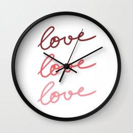 Love Love Love #kirovair #minimal #minimalism #buyart #design Wall Clock