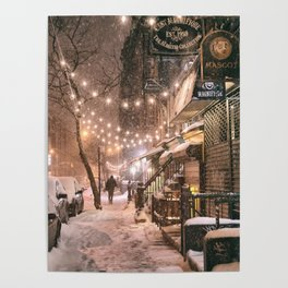 Snow - New York City - East Village Poster