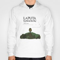 castle in the sky Hoodies featuring Laputa Castle in the Sky by okayleigh