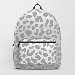 Silver Leopard Backpack